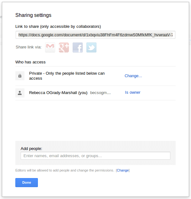 Google docs Sharing Settins How to share docs online, the easiest instructions ever!