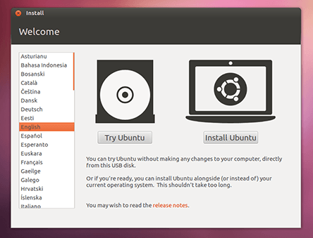 desktop trial 1 How to try Ubuntu from a USB stick   an easy & safe option for checking out an operating system