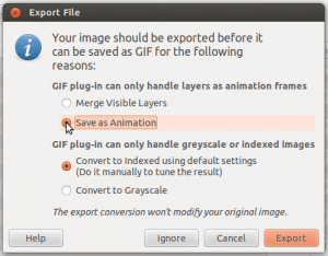GIF screenshot saving as animation 300x234 How to make an animated GIF in GIMP