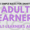 Adult learner infog header