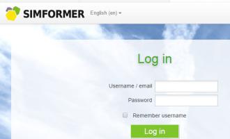 simformer_cropped login page